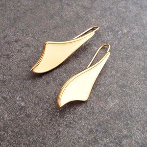 Vintage Gold Fashion Earrings by Monet